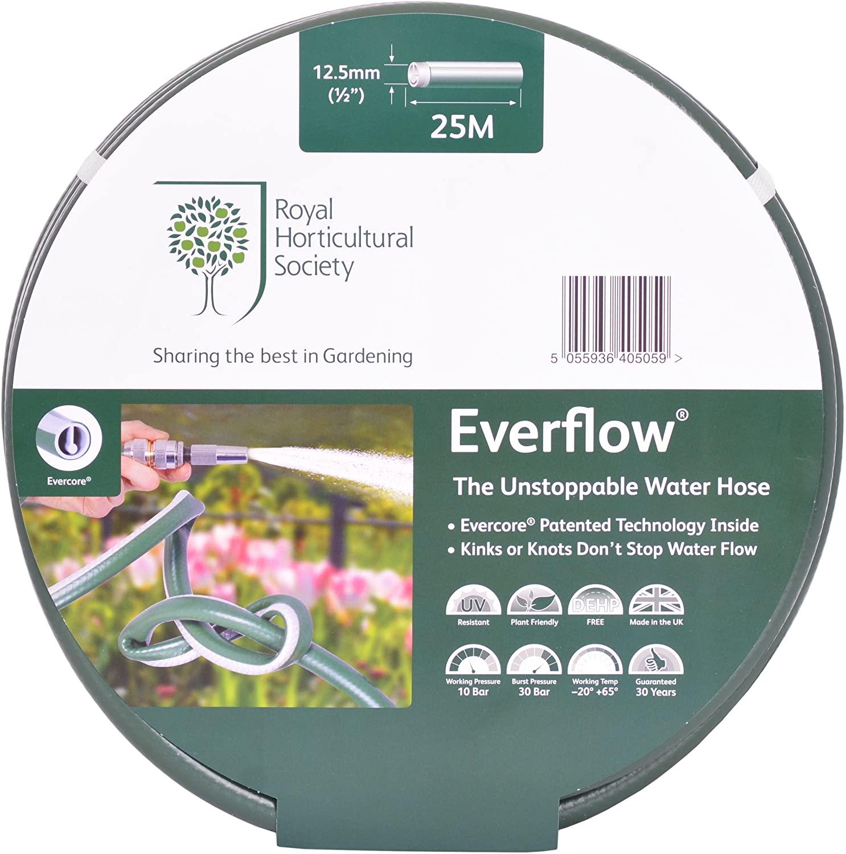 Royal Horticultural Society RHS Everflow Anti-Kink Garden Hose - 13mm x 25m