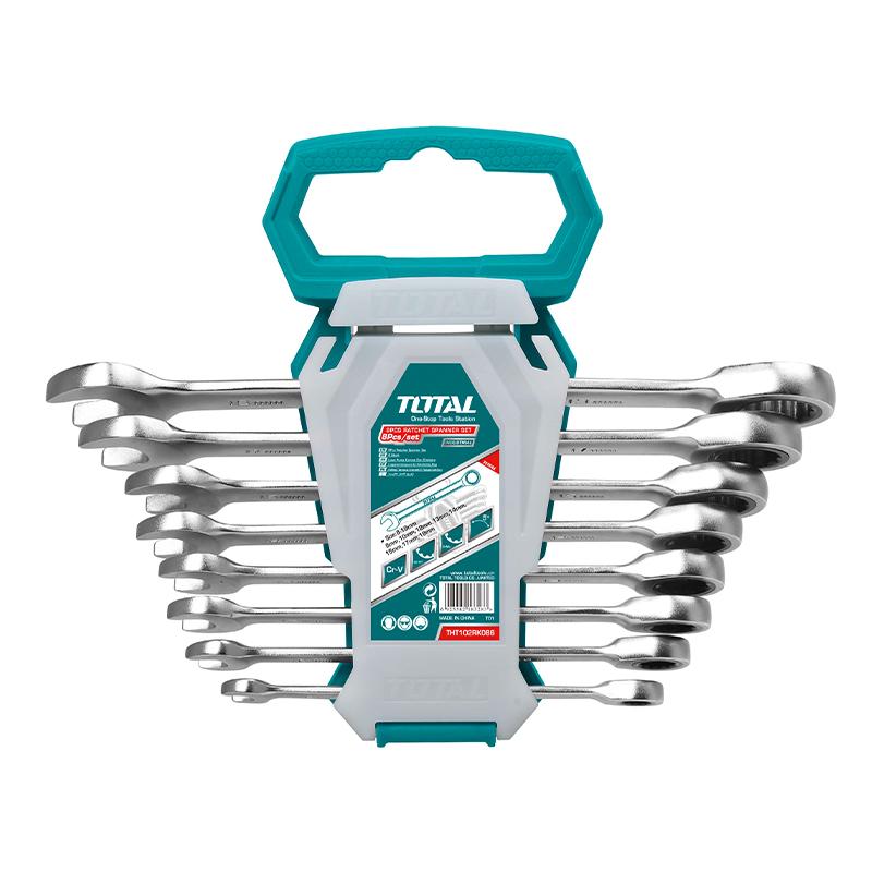 Total Tools Ratchet Spanner Set 8Pcs