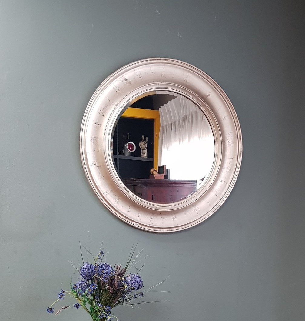 Lifespace Distressed Silver Round Accent Bevelled Wall Mirror