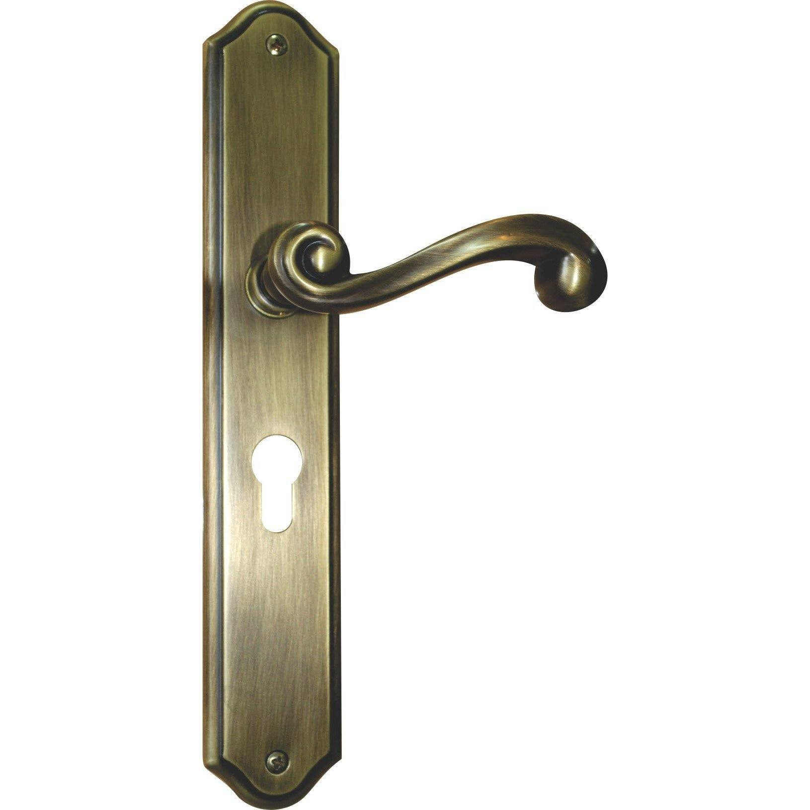 Scroll lever handle on back plate