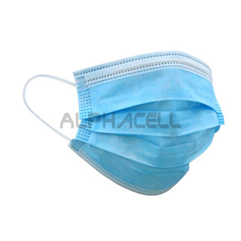 FACE MASK - 3 ply disposable blue - 1 PIECE (box)