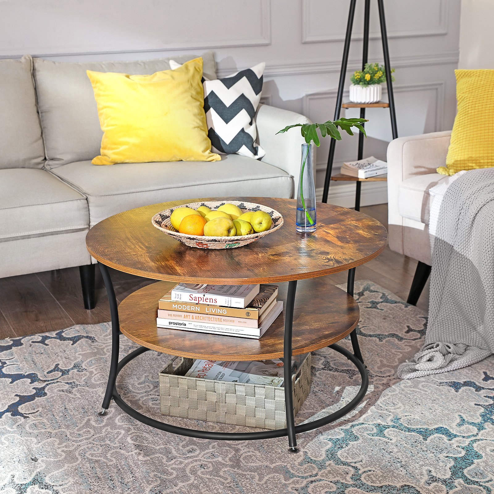 Unique Living Room Round Low Height Coffee Table