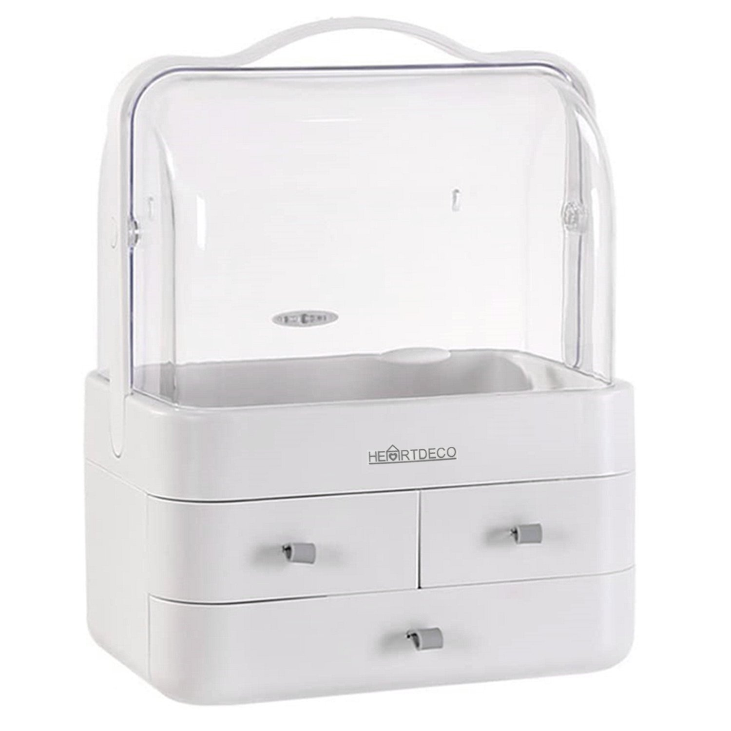Portable Makeup Cosmetic Storage with Drawers & Lids