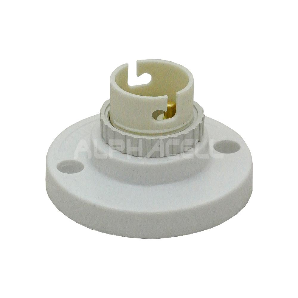 LAMPHOLDER B22 BATTEN WHITE