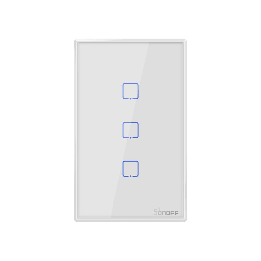 Sonoff Smart Light Switch White 3CH WiFi\RF433 T2US3C