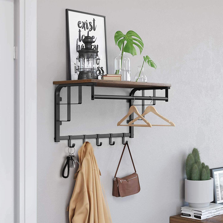 Versatile Wall-mount Rack with Hooks