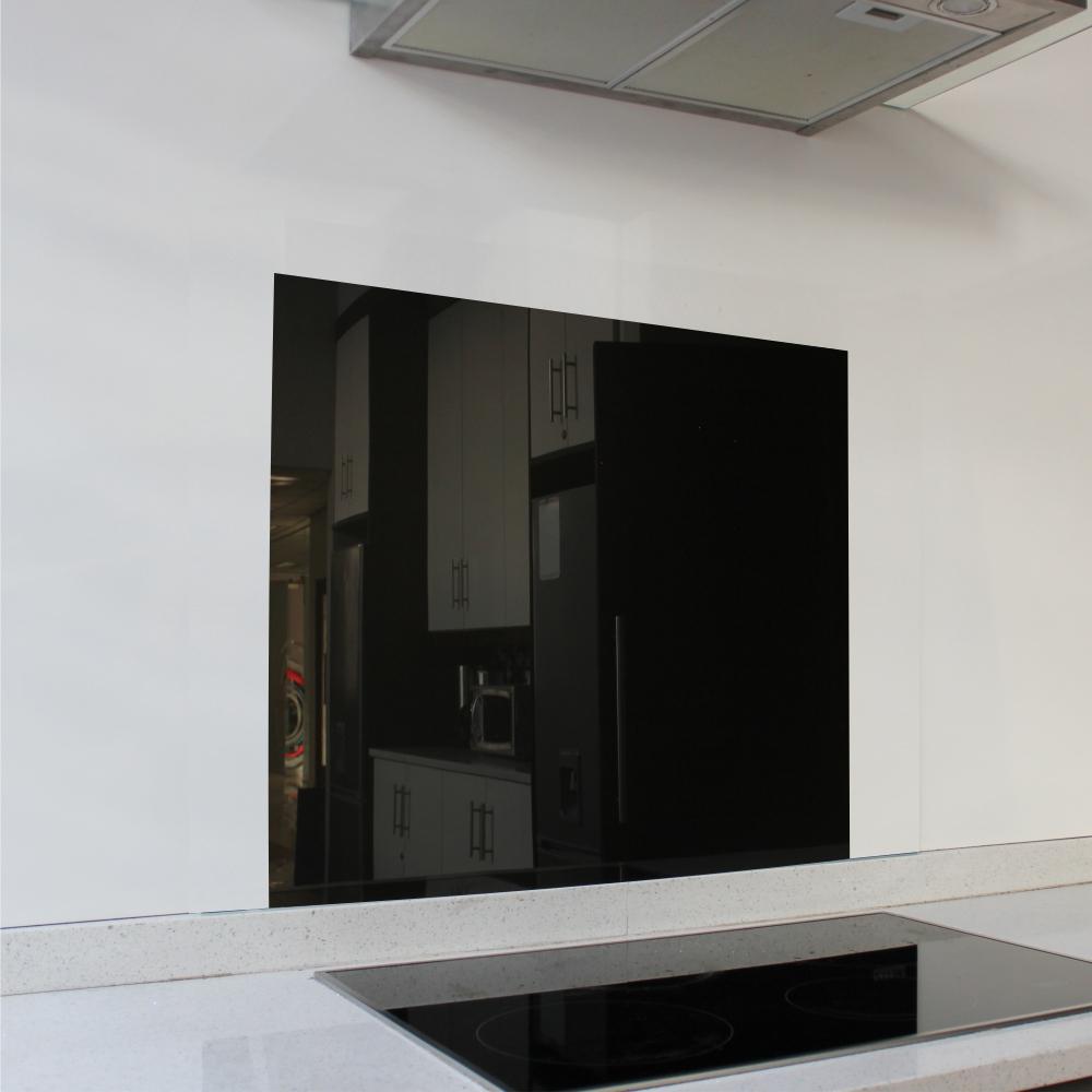 Black Hob Glass Splashback (598 x 650 x 6mm)