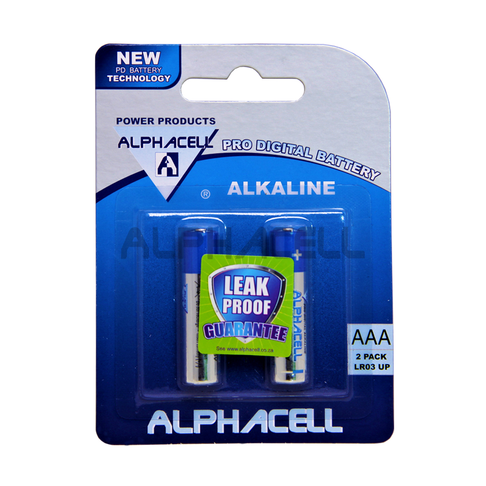 Alkaline ProDig AAA LR03 2Pc CARDED
