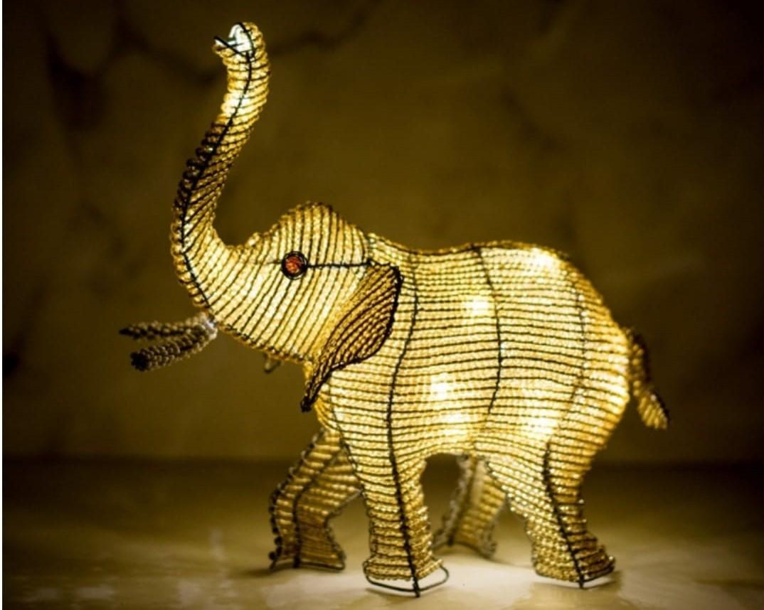 Elephant USB operated LED decorative lamp
