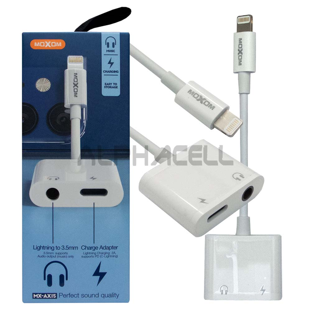 ADAPTOR - Moxom Lightning to Charge & 3.5mm AX15