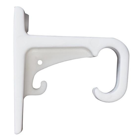 Curtain Track Plastic Single Bracket White (2)