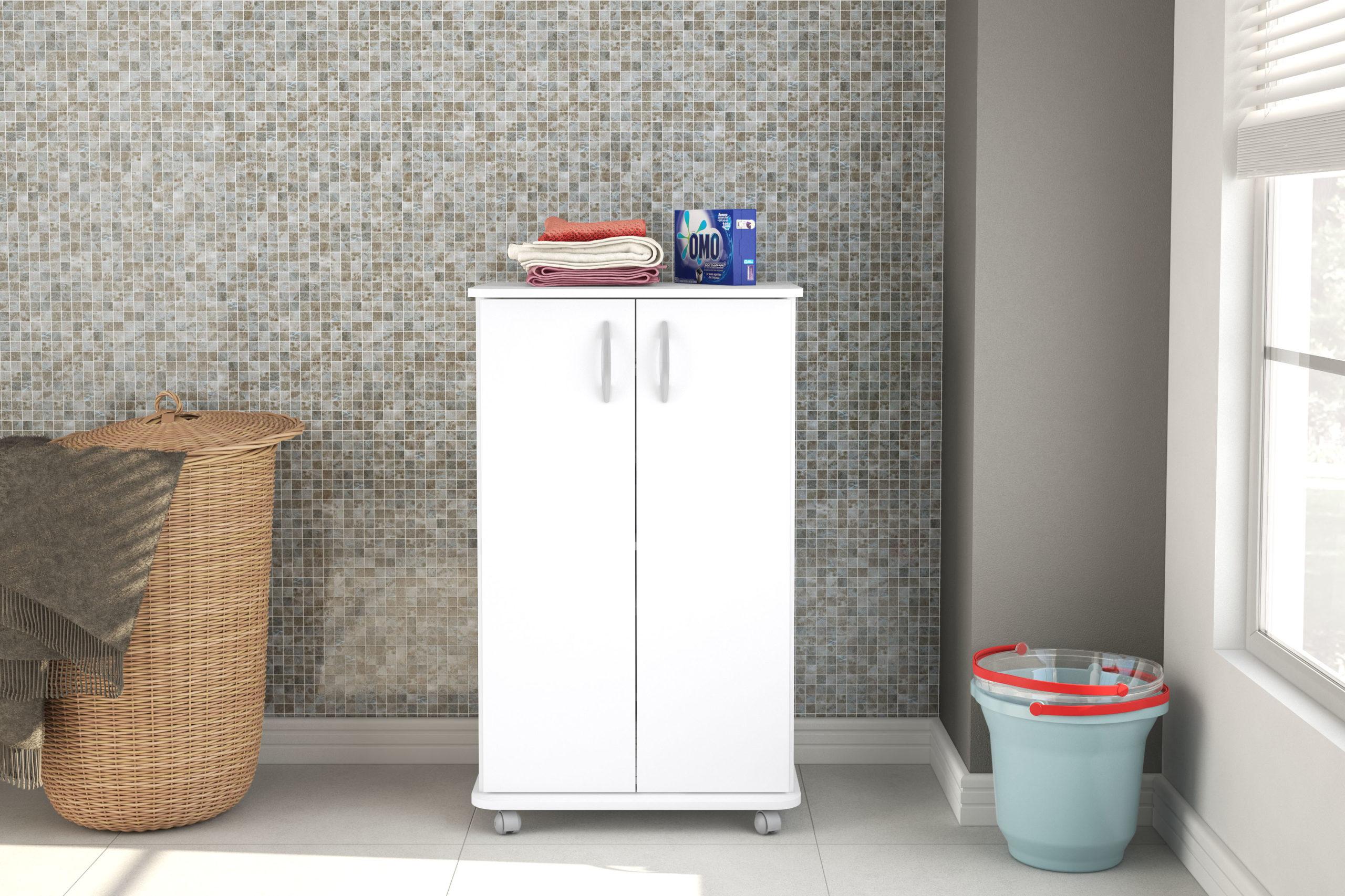 Click Furniture Lola White Cabinet