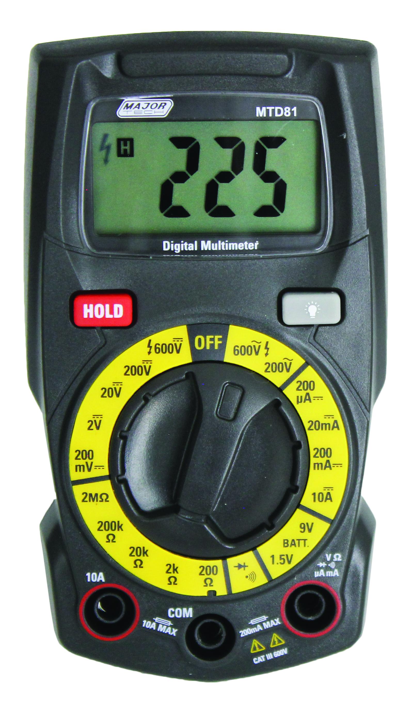 Compact Manual Range Multimeter (MTD81) -Major Tech