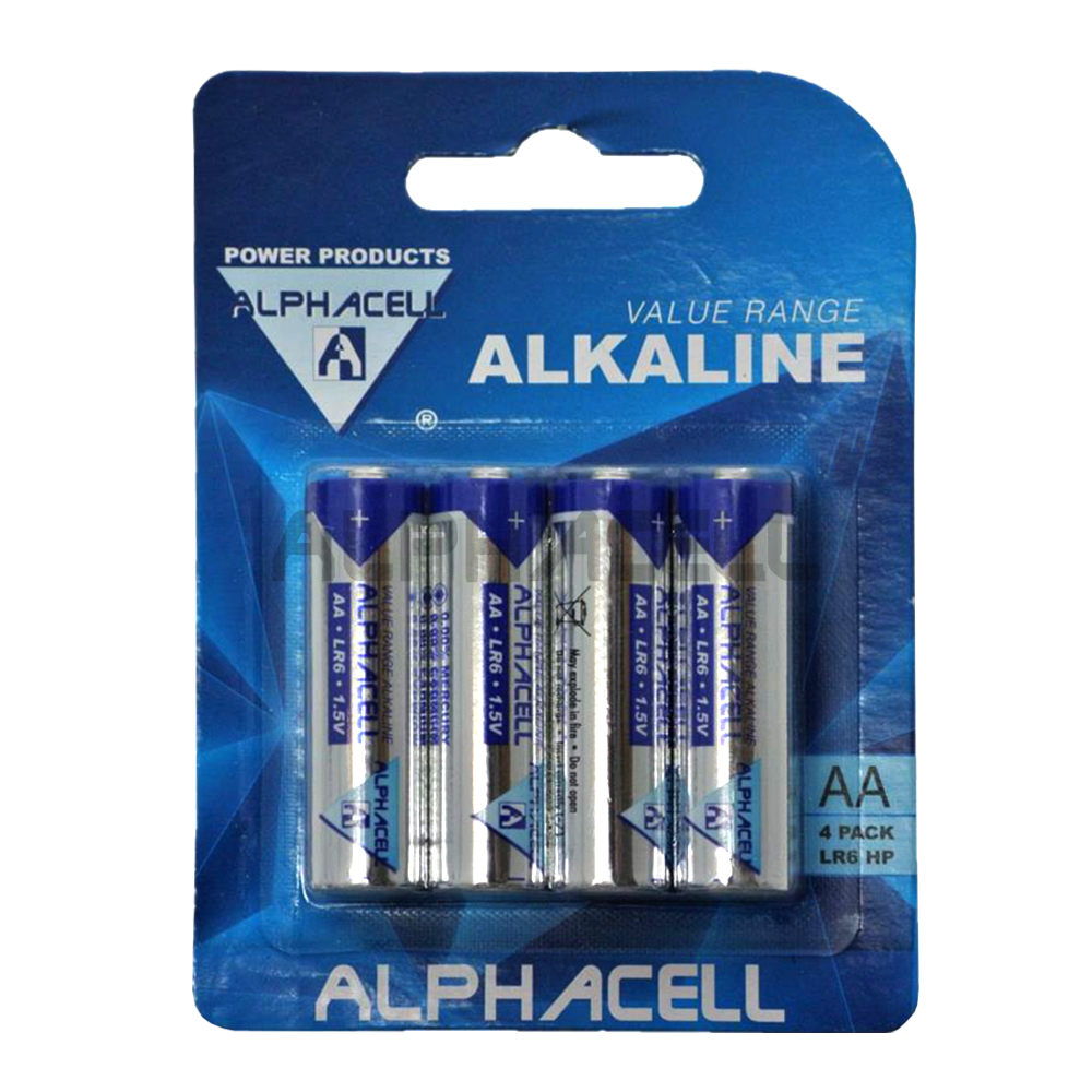 Alkaline Value AA LR6 4pc - CARDED