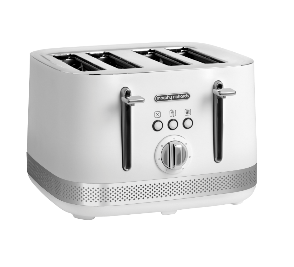 Morphy Richards Toaster 4 Slice Stainless Steel White