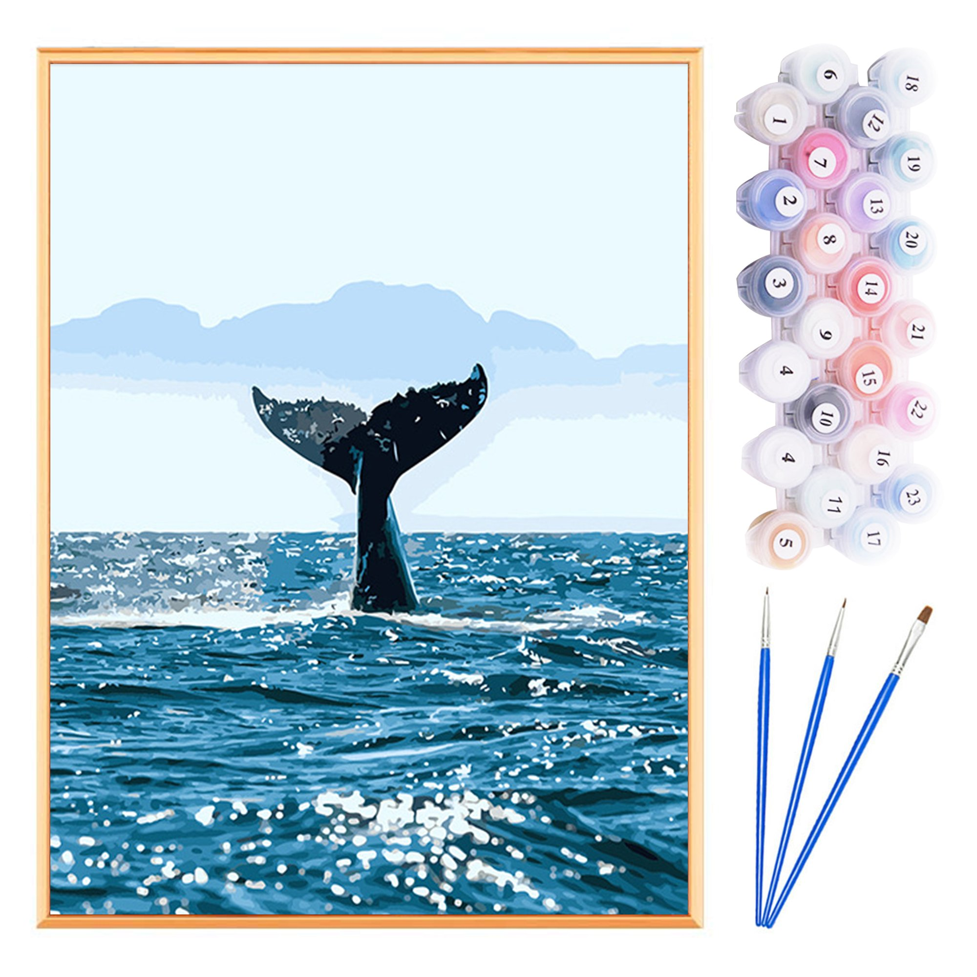 Paint by Numbers Acrylic Painting DIY Kit - Whale
