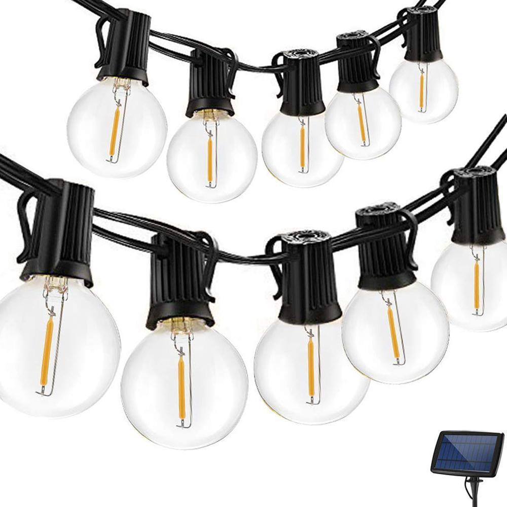Litehouse Vintage 16 LED Bulb Solar Power String Light - 5m