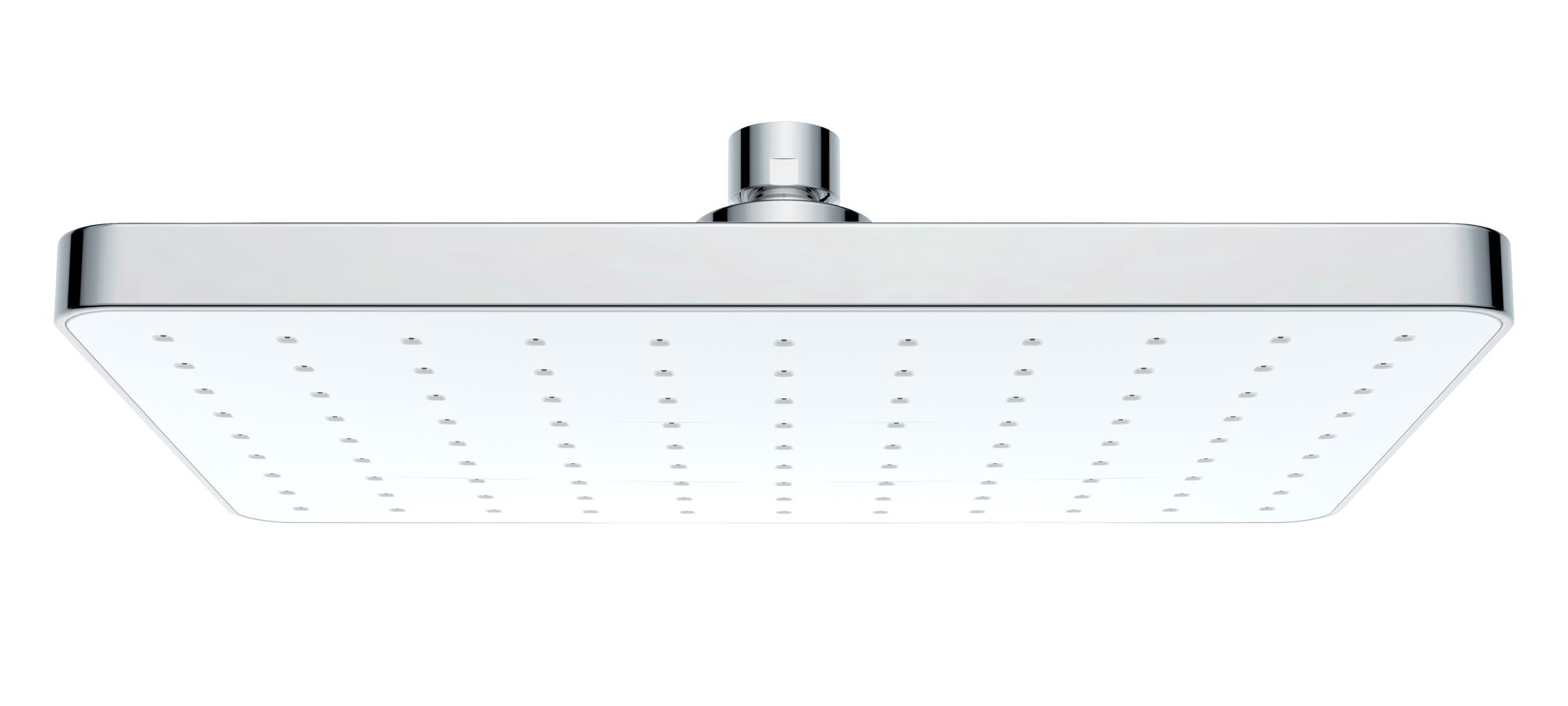Wenko - Rain Shower Head - Automatic Cleaning - 250X170 - Chrome/White