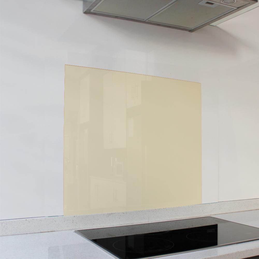 Ivory Satin Hob Glass Splashback (598 x 650 x 6mm)