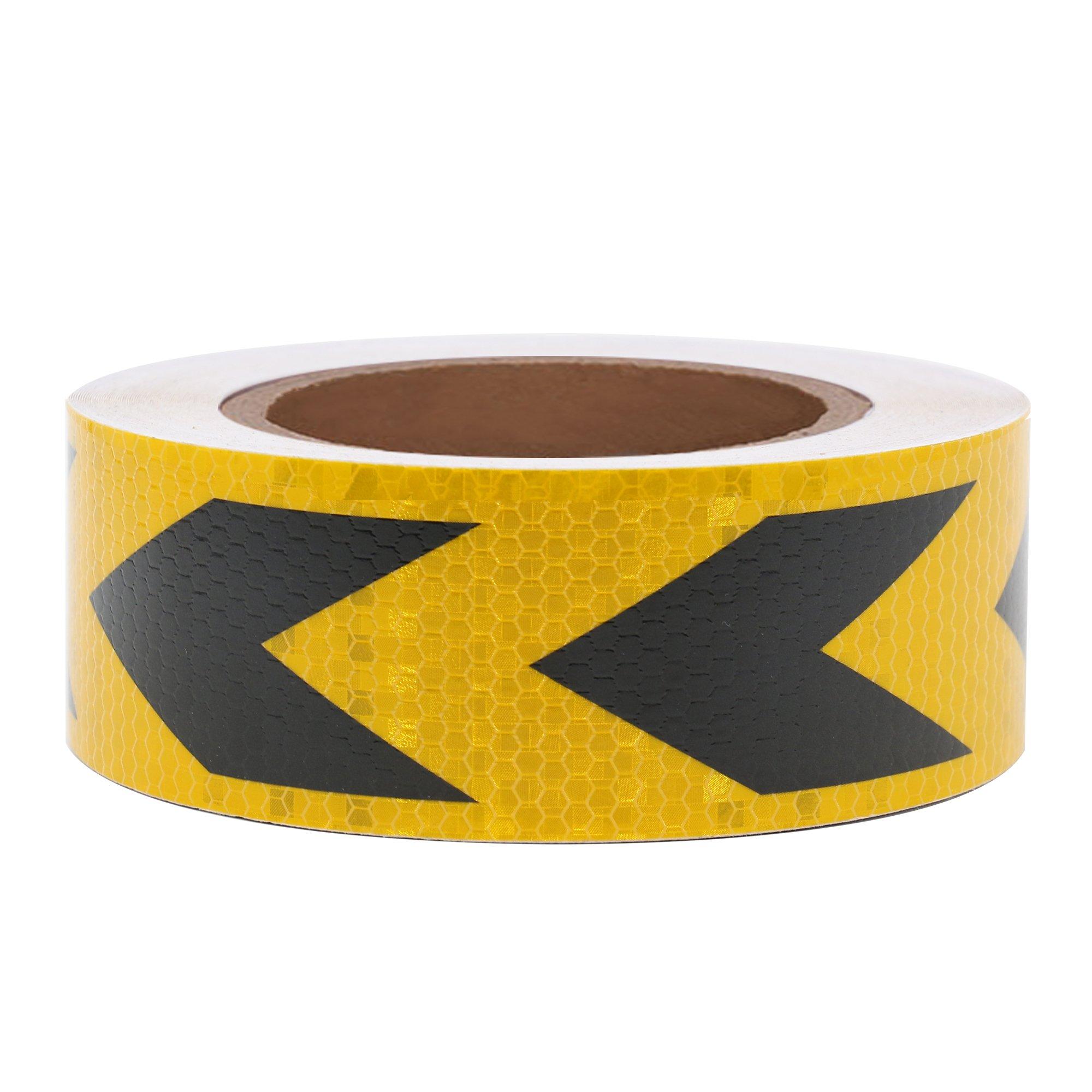 Vehicle Safety Warning Reflective Tape - Yellow