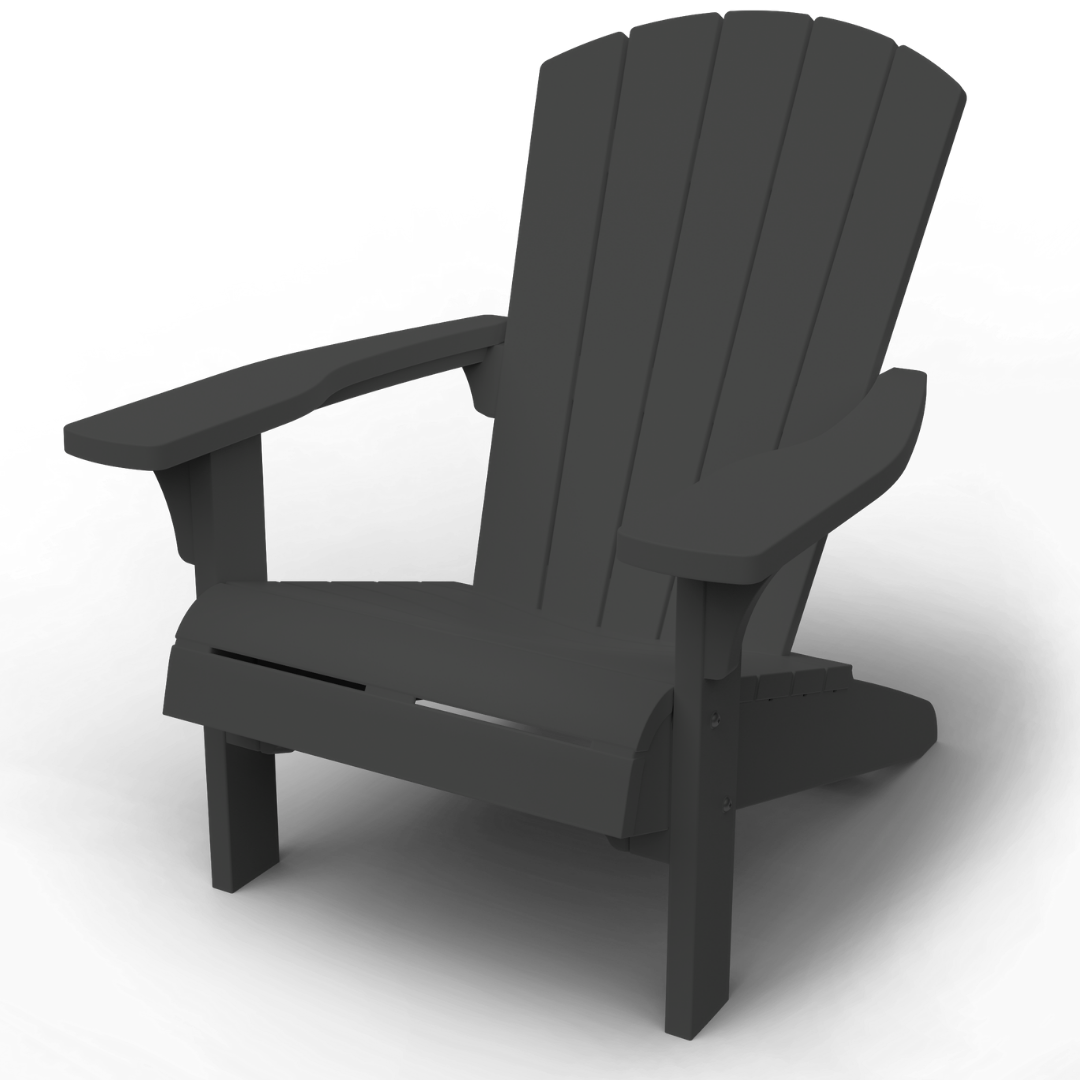KETER Troy Adirondack Chair - Graphite