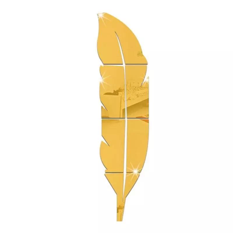 Leaf Gold Mirror finish Wall Art - 73 cm
