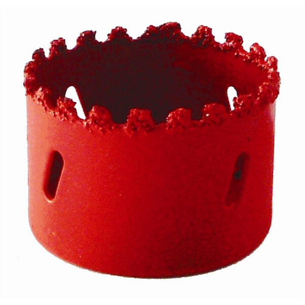 HOLE SAW CARBIDE GRIT 86MM - RED