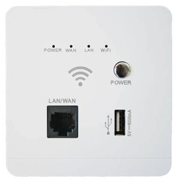 3x3 Networking Fitting: Access Point, WiFi Repeater and USB Charger