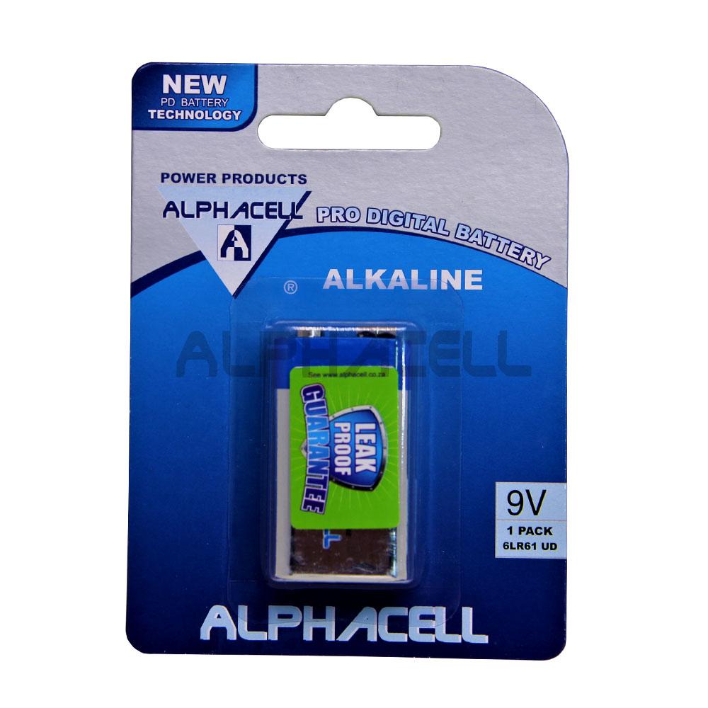 Alkaline ProDig 9V 1pc Alpahcell  CARDED