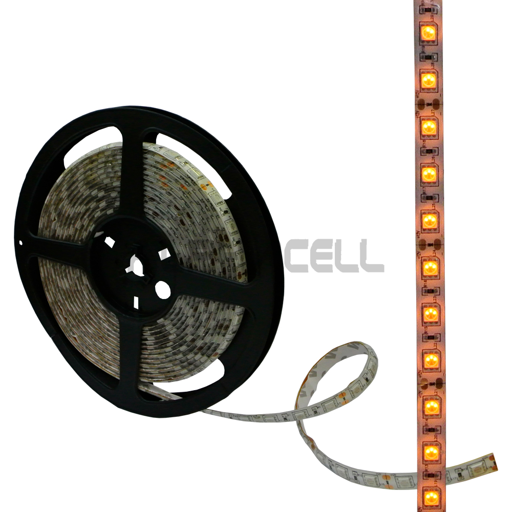 Strip light ORANGE p/metre (60 led) WATERPROOF (Driver not included)