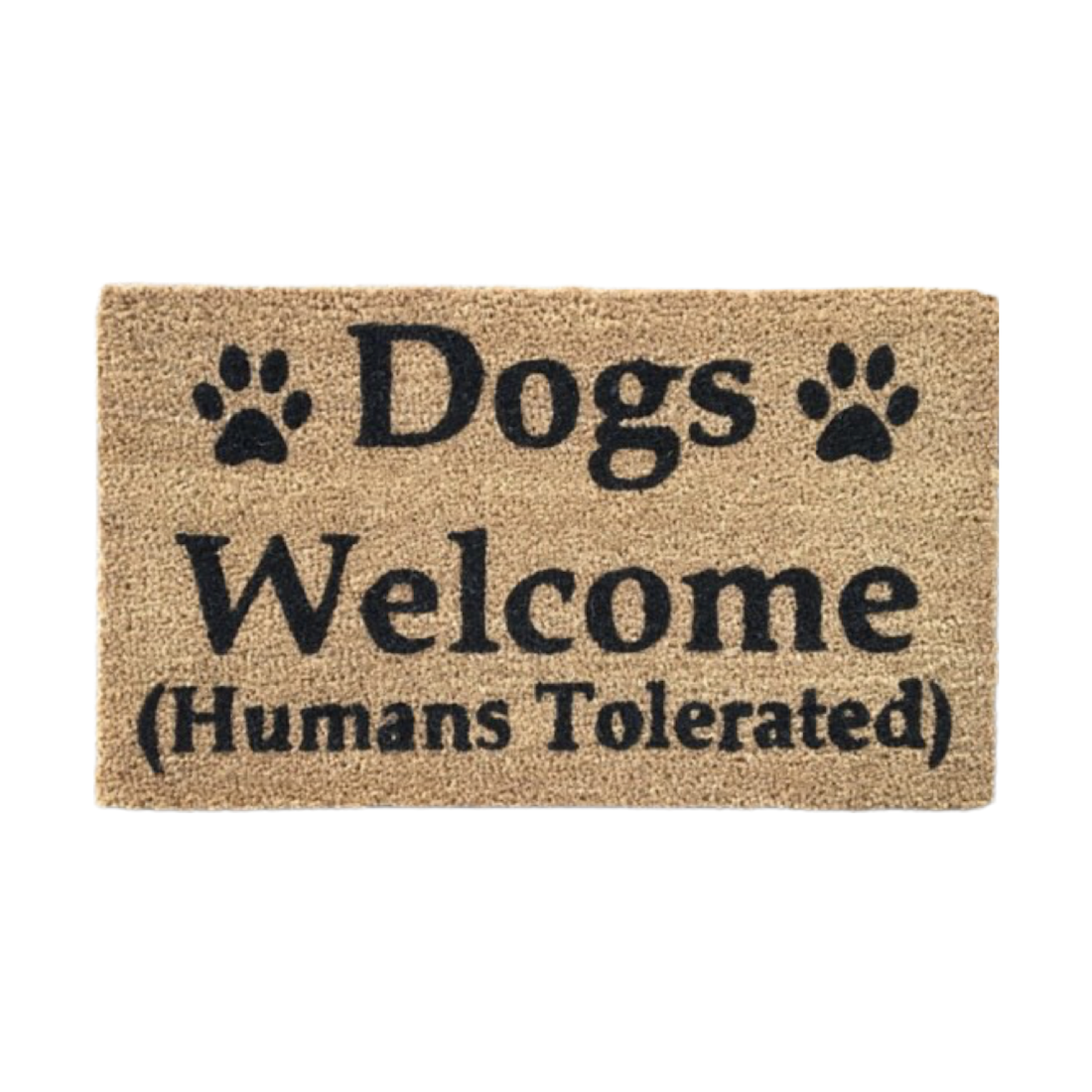 Matnifique Coir Design Doormat  - Dogs Welcome 700 x 400 x 14mm
