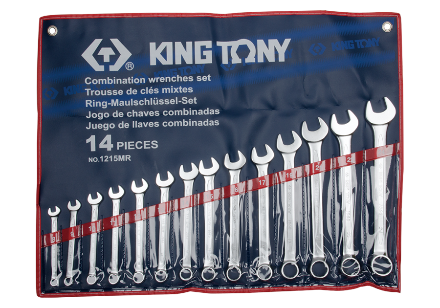KING TONY – Combination spanner set 14 piece 8 to 24mm