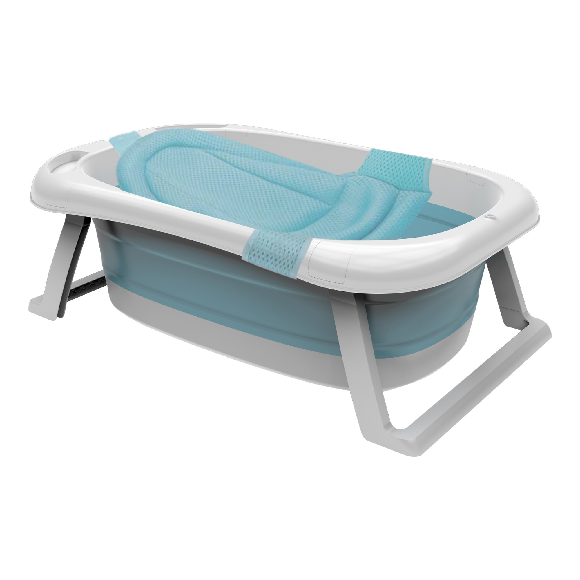Foldable Baby Bathtub With Support Mat
