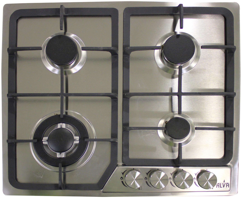 Alva - 60Cm 4 Burner Gas Hob - Stainless Steel