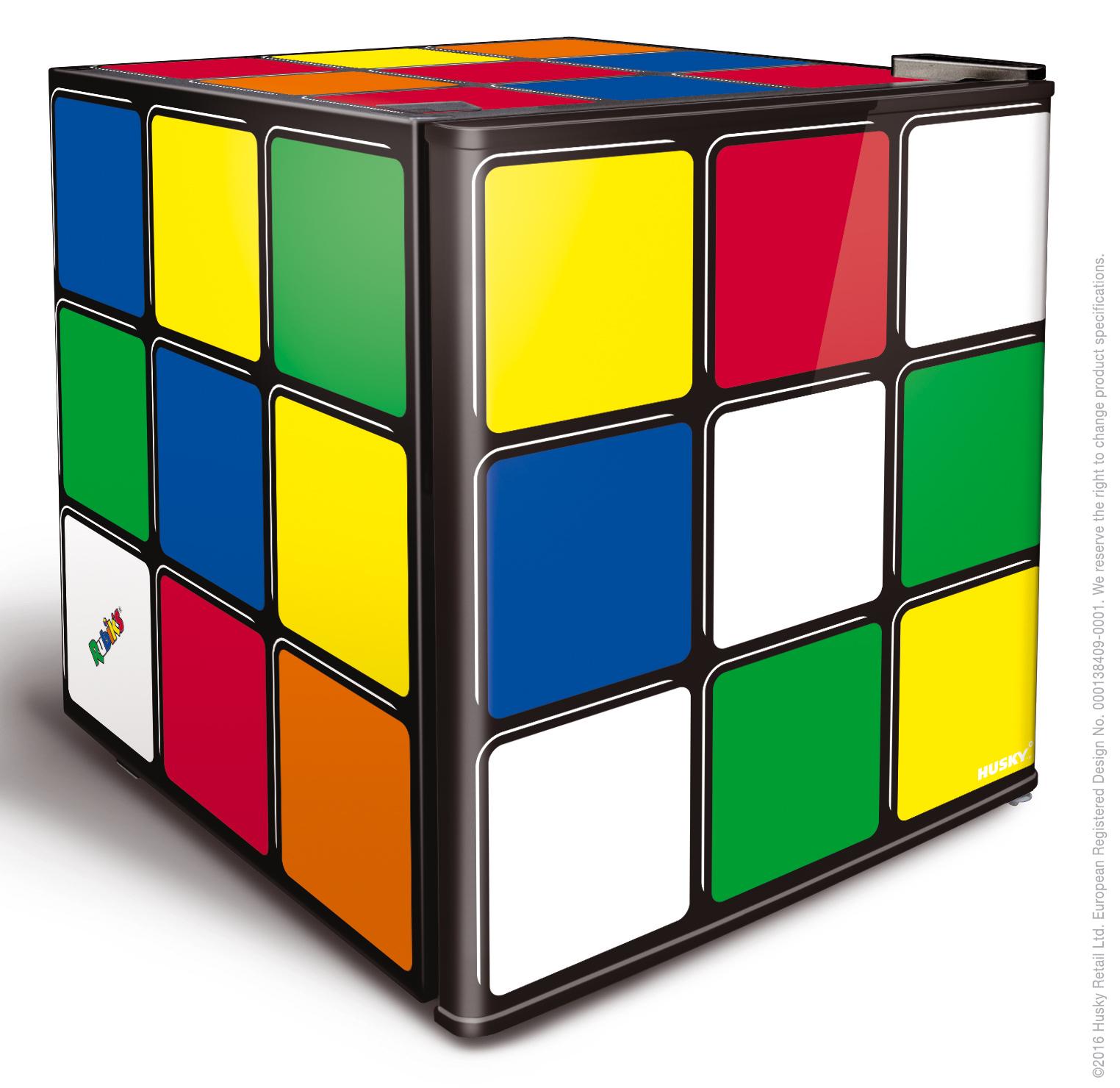 46L Counter-Top Mini Fridge - Solid Door - Rubiks Cube