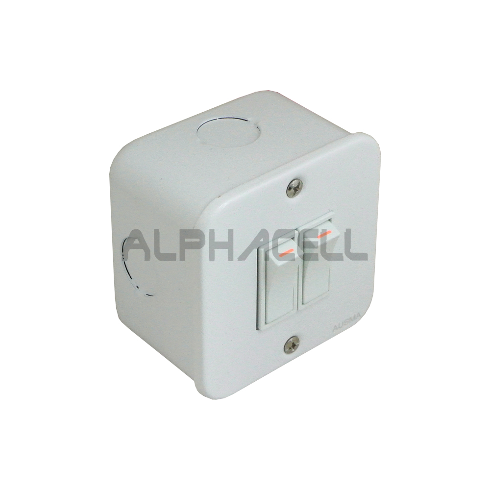 SWITCH INDUSTRIAL - 2 LEVER(white)