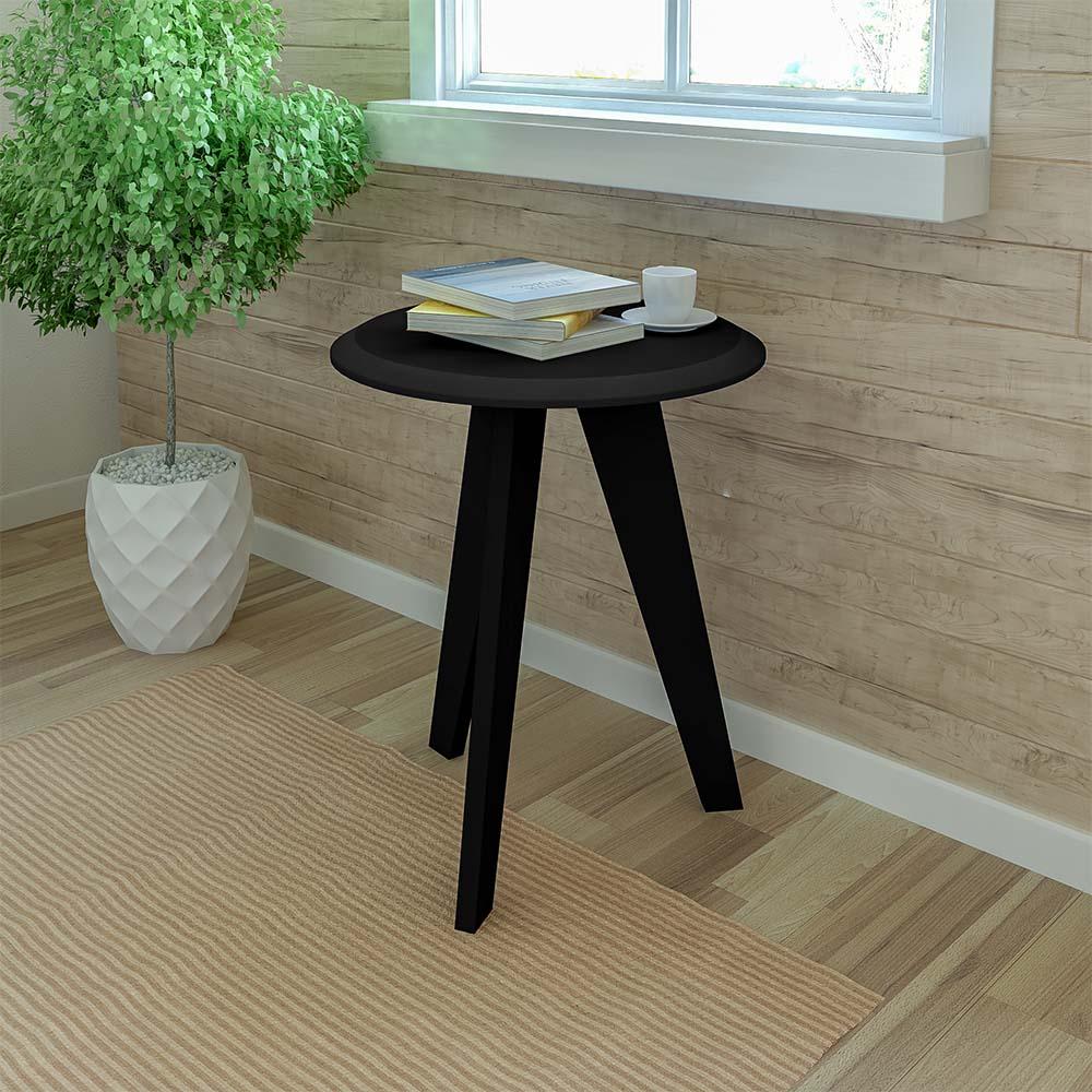 Click Furniture Ellis Black End Table