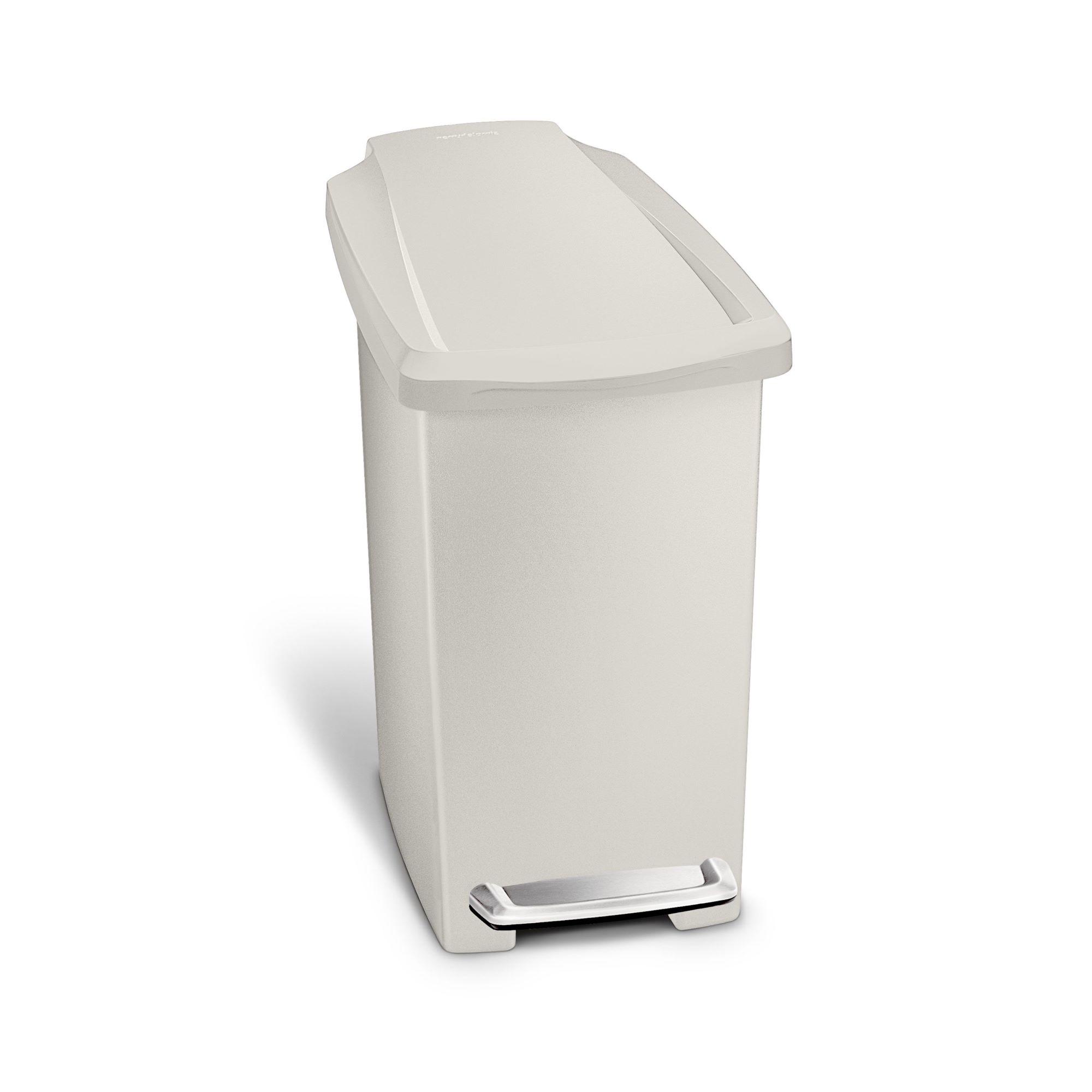 Simple Human - 10L Slim Plastic Pedal Bin W/ Steel Pedal - Stone
