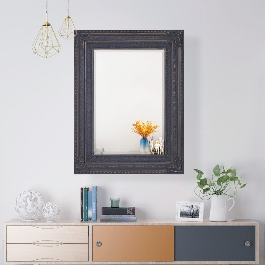 Lifespace Ornate Dark-Coffee Bevelled Wall Mirror