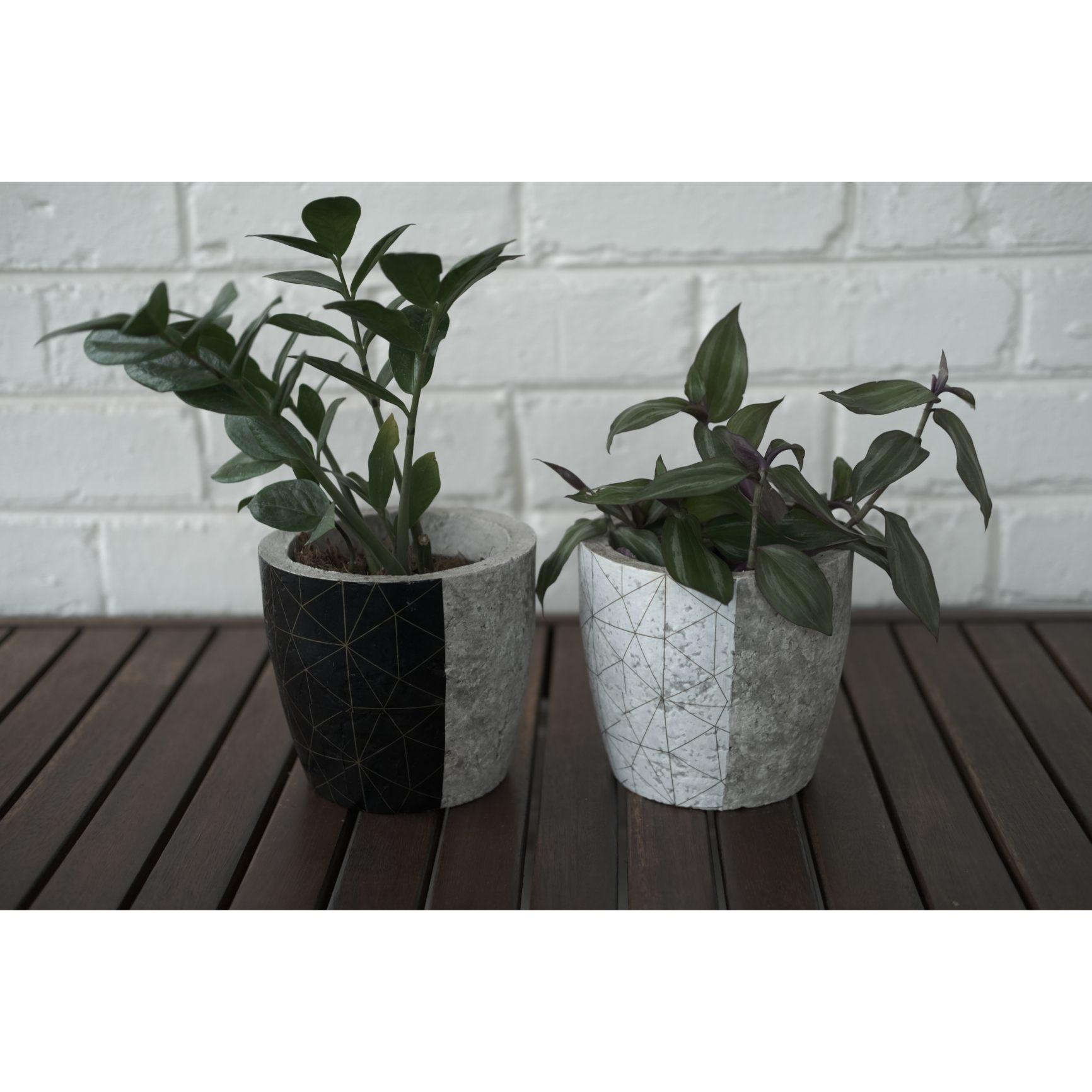 Plant pot set - geometric