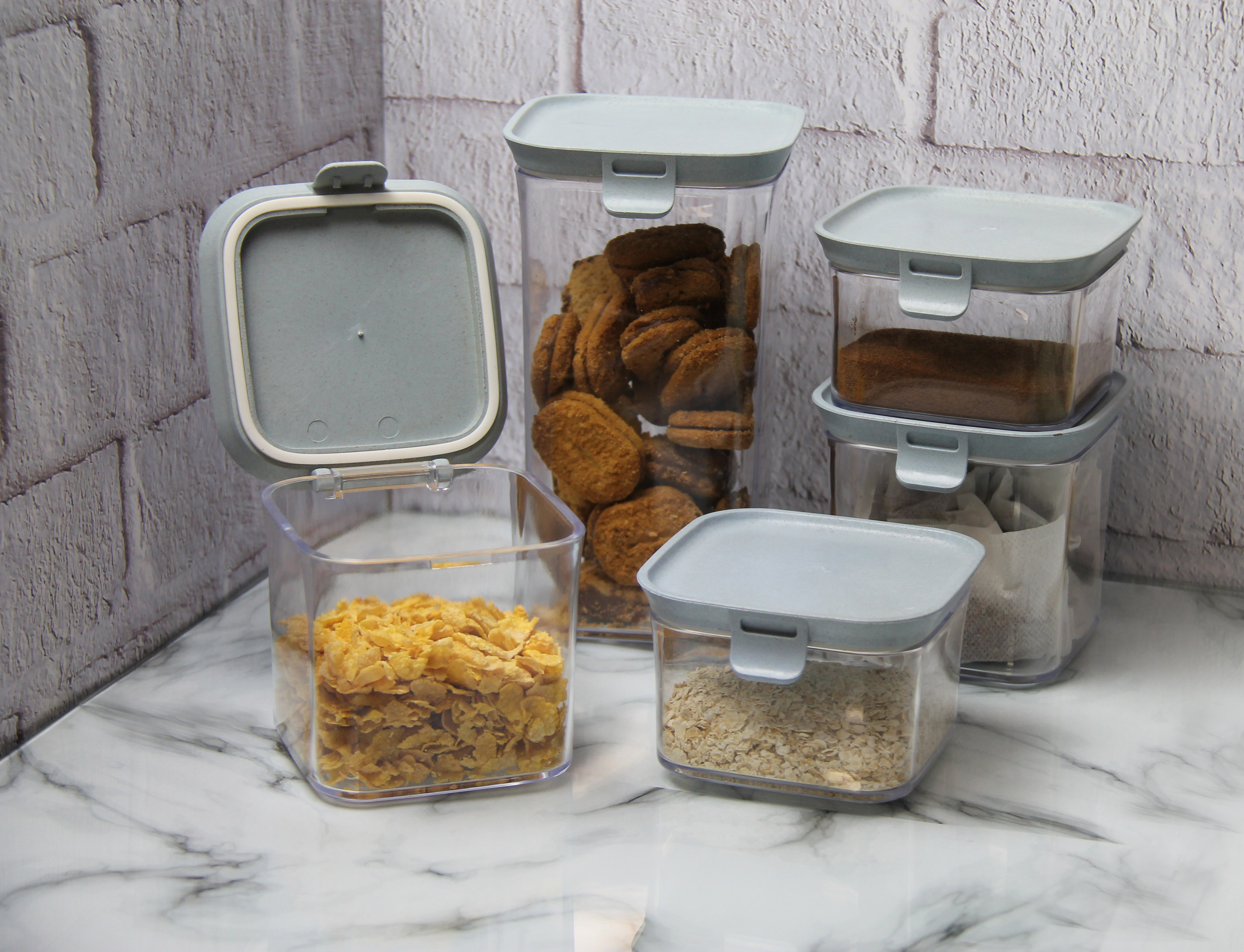 5pc Storage Container Set - with Clips