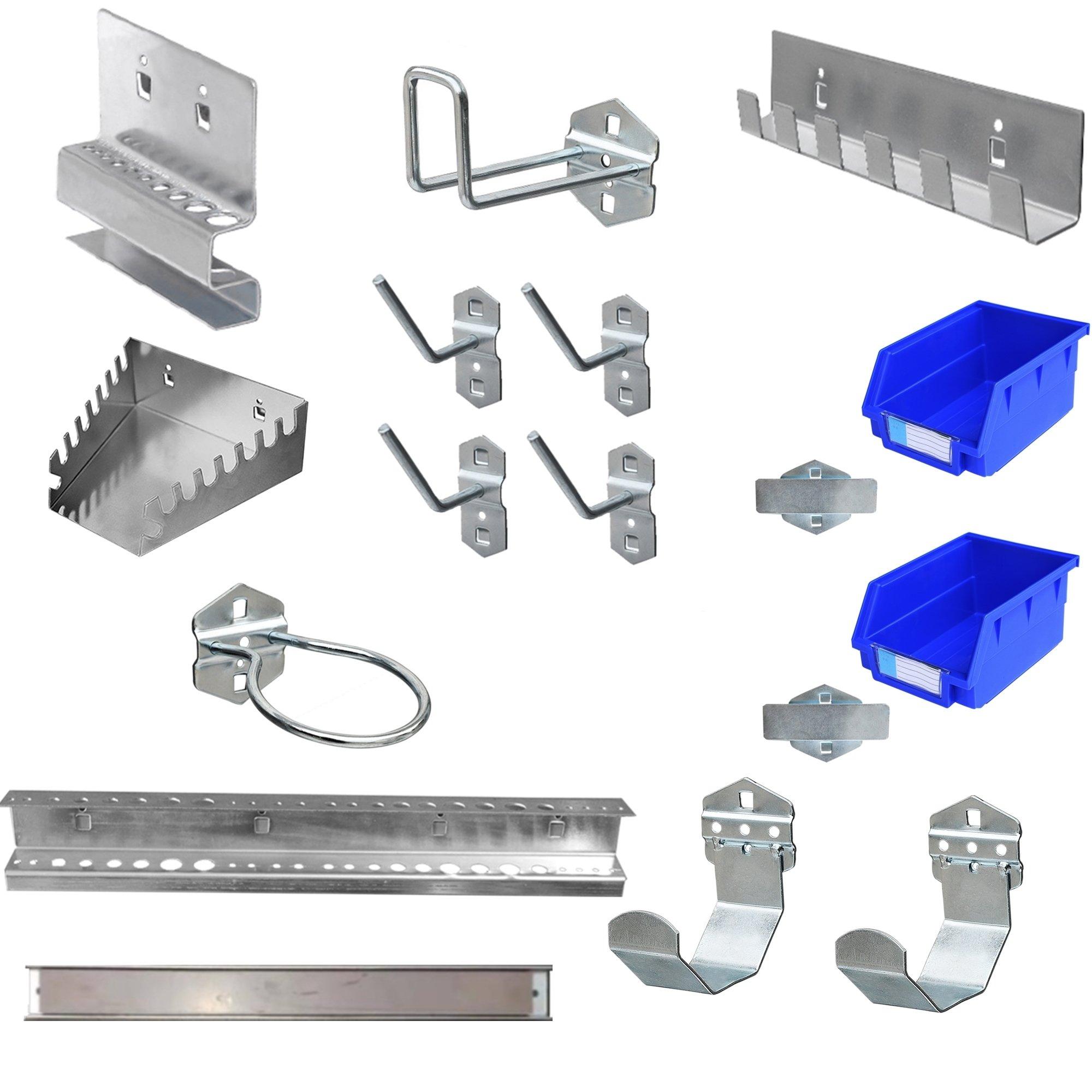 17pcs Steel Pegboard Hooks Accessory Set