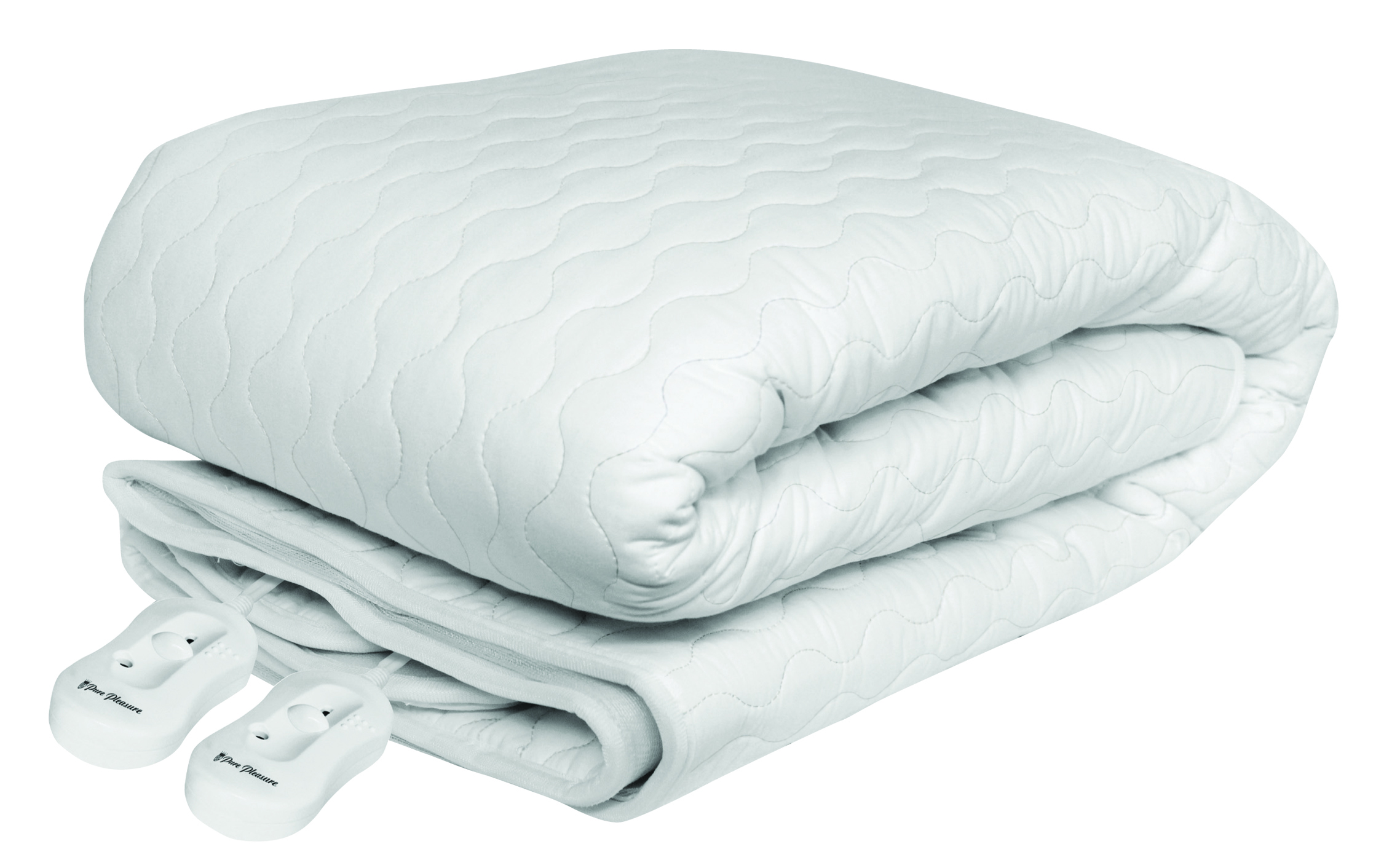 Pure Pleasure - King Cotton Quilt W/ Skirt Fitted Electric Blanket 183X188