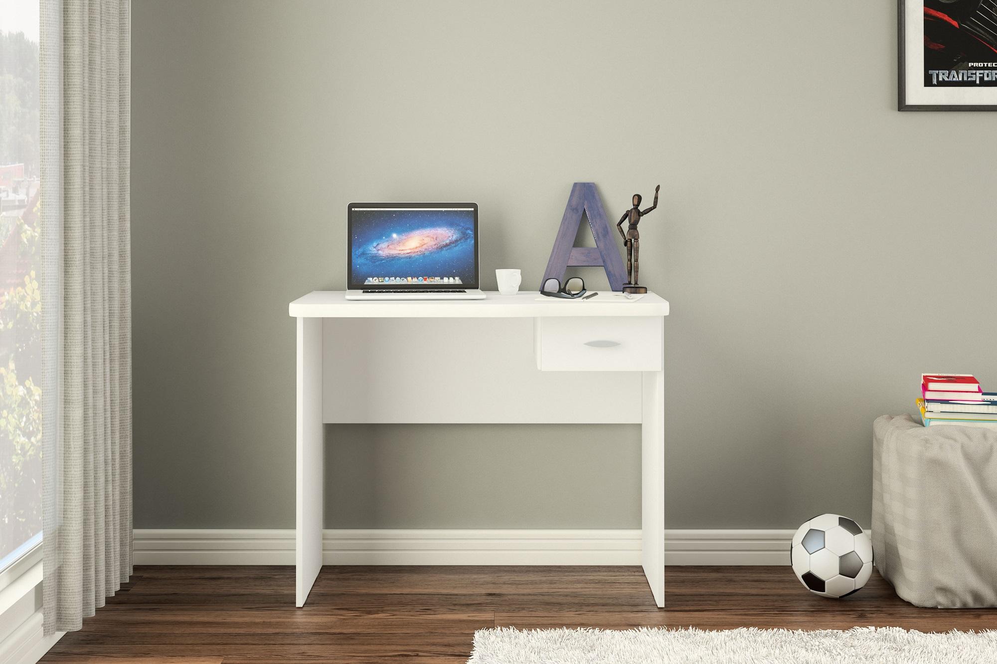 Click Furniture Diego White Desk