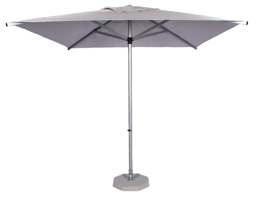 2.35m Square Alu Umbrella-Ecru
