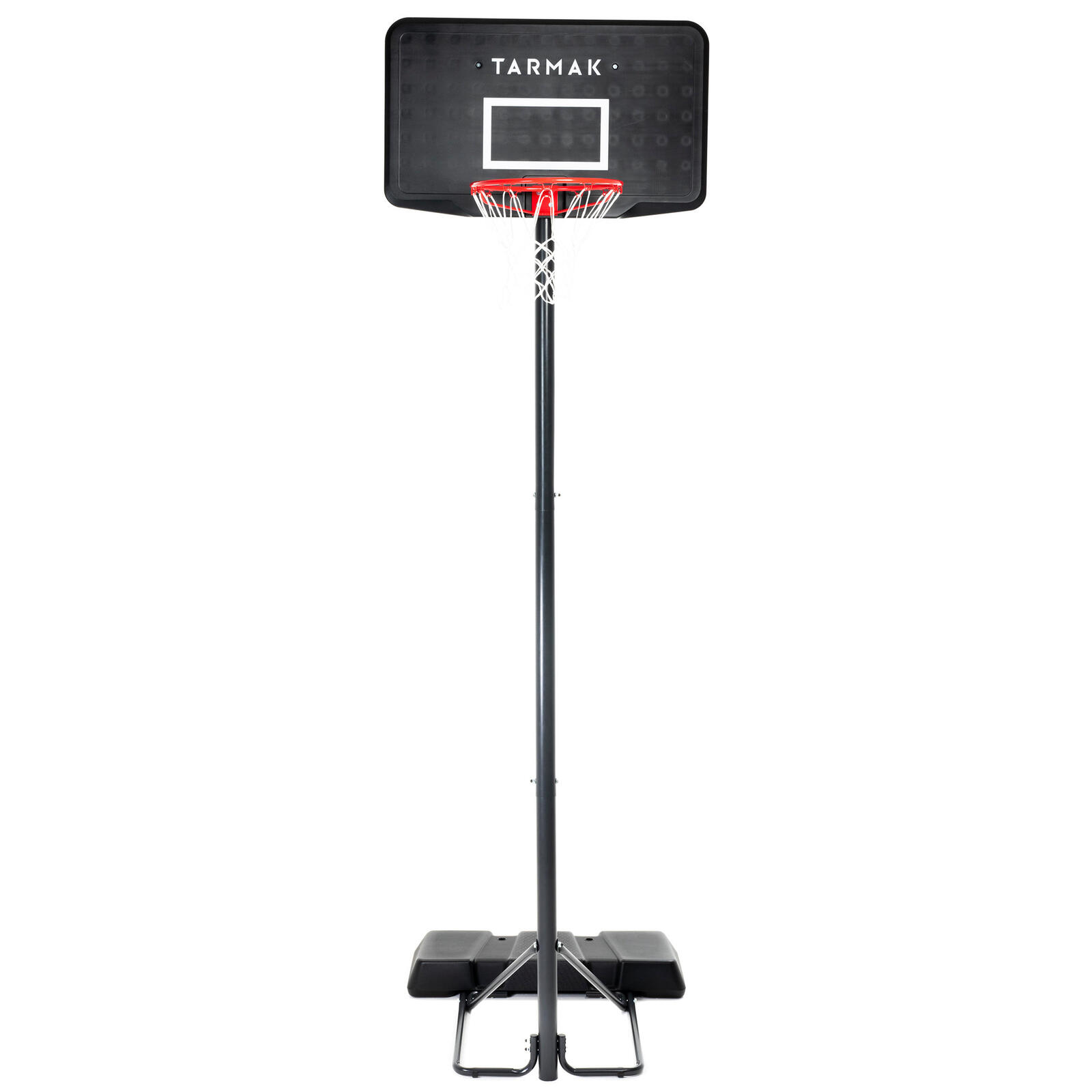 Basketball hoop stand black adjusts from 2.2m to 3.05m