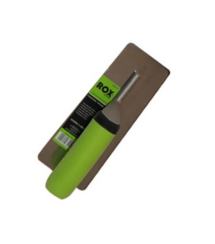 Rox® midget finishing trowels - contractor range - 200mm x 80mm - TPE handle - stainless steel blade