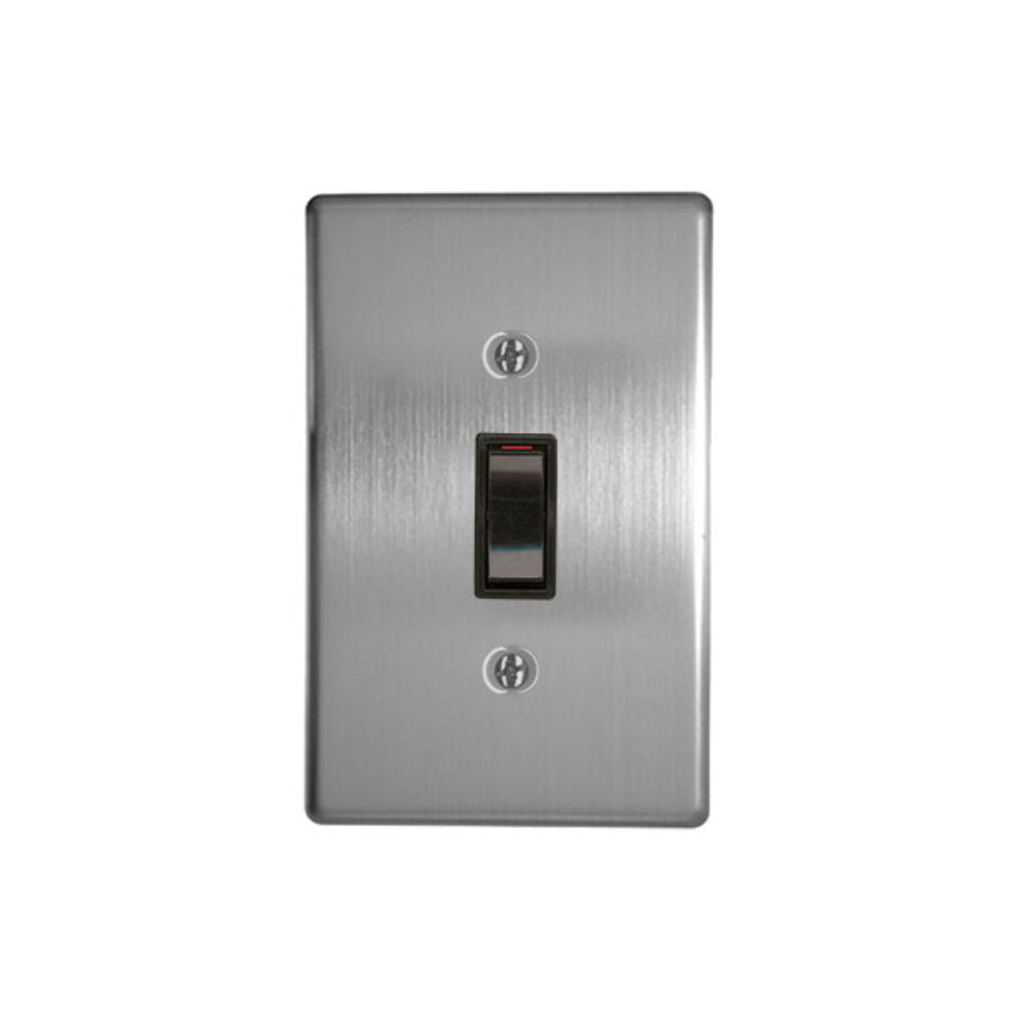 Classic Switches - 2 x 4 1 Lever 1 Way - Silver