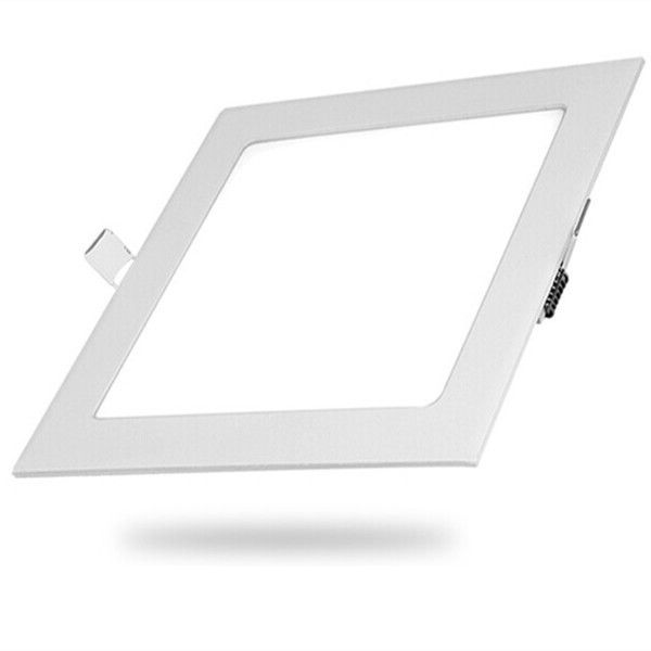12W Square LED Panel Light - White 2 Pack