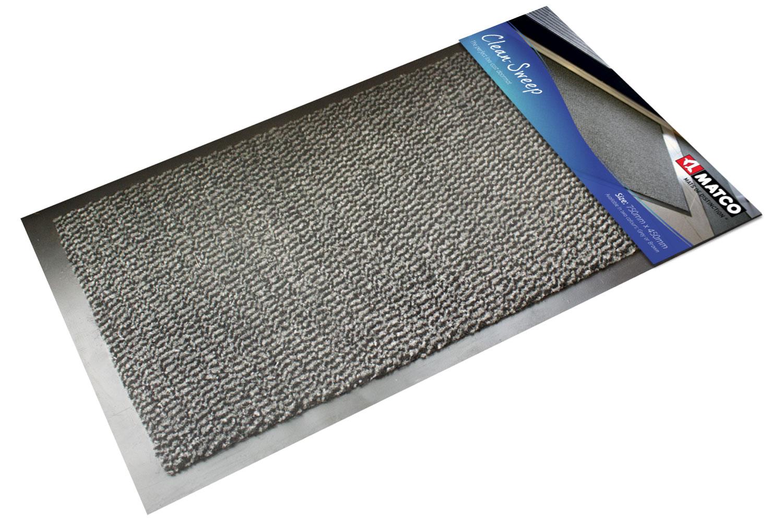 Clean Sweep Doormat Black/Grey 75x45cm
